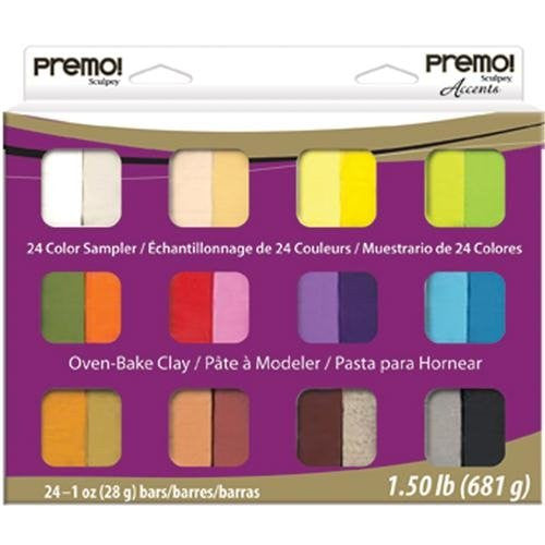 premo! Sculpey Multipack ‐‐ Sampler Pack, 24 x 1 oz