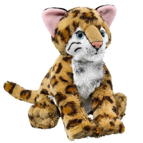 "Ocelot Stuffed Animal Plush Toy 12"" H"
