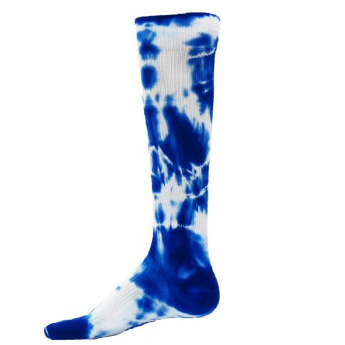 Tie Dyed Compression Socks, Large, Royal