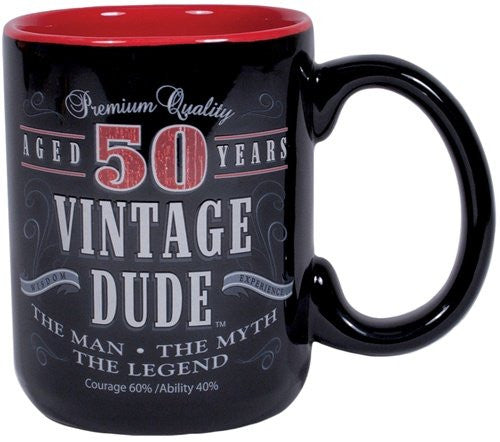 Vintage Dude Milestone Mug 50 years