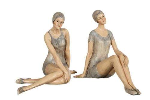 "6-1/2""L Resin Bathing Beauties, 2 Styles"