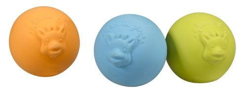 Sophie the Giraffe So' Pure balls (3 pcs in natural rubber)