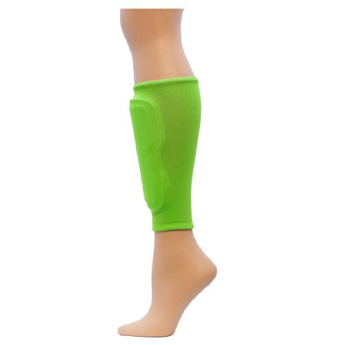 Neon Glide Shin Guard Sleeves, Flo. Green