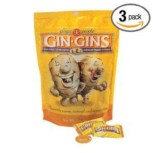 90505 Gin Gins Double Strength Hard Ginger Candy 3 oz