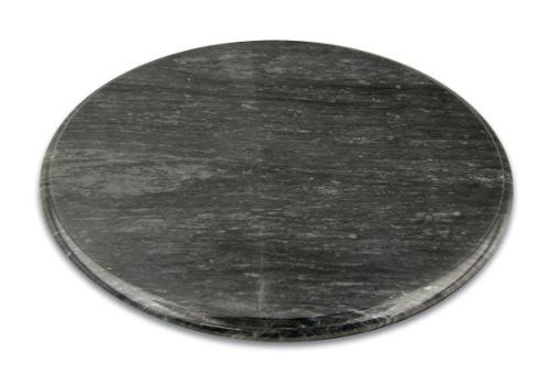 "Fox Run 12"" Black Marble Lazy Susan"