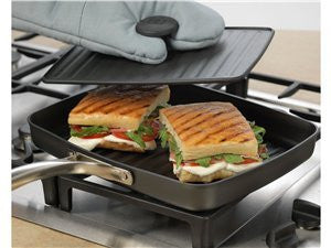 Calphalon Unison Grill Pan and Cast Iron Press with Sear Nonstick