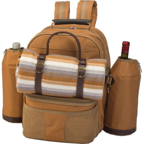 Tremont 4-Person Insulated Picnic Backpack w/ Blanket (Color: Brown)
