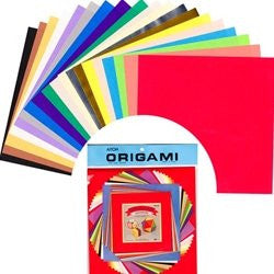 Origami Paper Pack - LARGE - Mixed Colors and Sizes