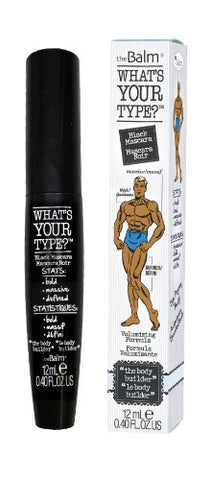The Balm What's Your Type Mascara, Body Builder Black, 0.40 Ounce