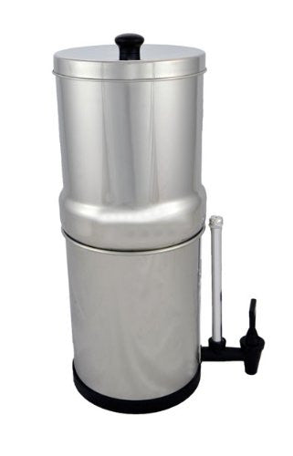 Travel Berkey 1.5 Gal, Stainless Steel Water Purifier with 2 Black Berkey Elements