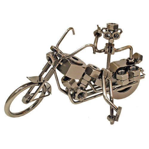 Pewter Figurine - Motorcycle Parked