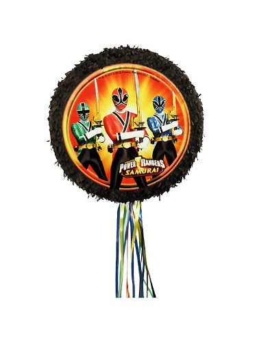 Power Rangers Samurai Pull String Pinata 18 Inch Diameter Colorful Party
