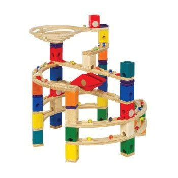 Hape Quadrilla Twist and Rail Set - 98 Piece, 50 Marble