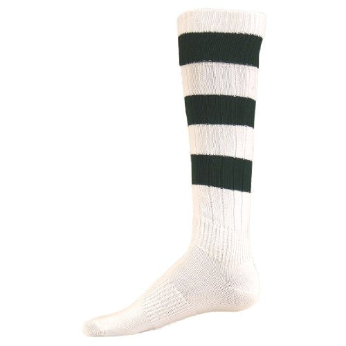 Big Stripe, Medium, White/Dk. Green