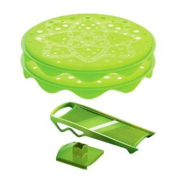 Mastrad Green Silicone Top Chips Maker and Mandoline Set
