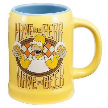 Simpsons Homer Simpson Have No Fear Ceramic Stein