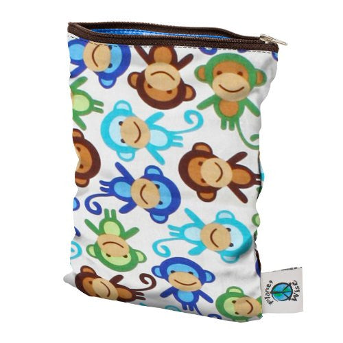 Planet Wise Diaper Wet Bag (Size: Small Color: Monkey Fun)