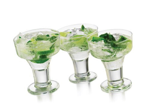 Libbey 6-Piece Cool Cocktails Urban Edge Margarita Glass Set, Clear