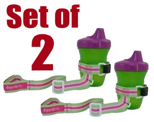 Set of 2 SippiGrip - Universal Sippi Grip, That is compatible with all Type of Baby Bottle, Cup & Baby Toys