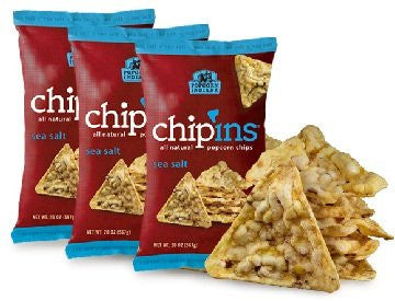 Sea Salt Chip'ins Popcorn Chips 7.25 Oz