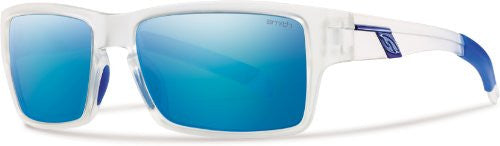 Outlier Matte Clear with Polarized Blue Mirror Lens