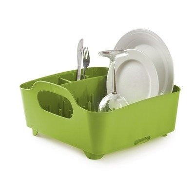 Umbra Tub Dish Drying Rack, Avocado