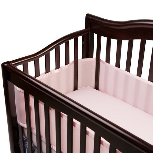 Breathable Mesh Crib Liner - Pink
