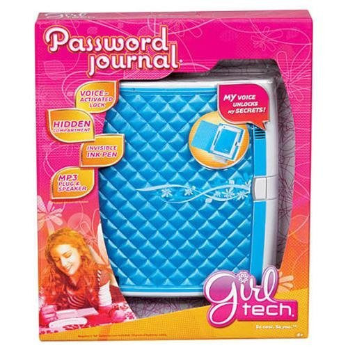 Girl Tech Password Journal Electronic Diary Journal  - Turquoise