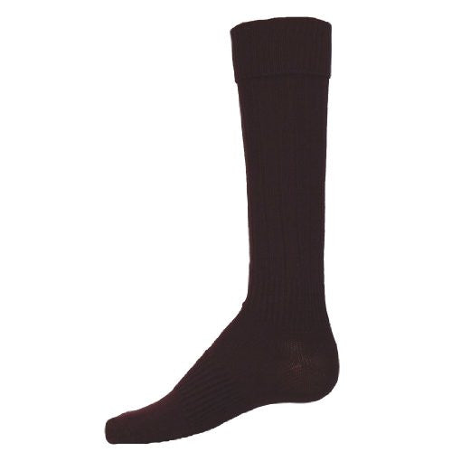 Elite Ribbed Construction Stretch Nylon Athletic Socks, Large, Maroon