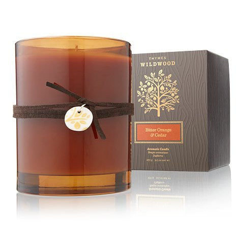 Thymes Wildwood Candle - Bitter Orange & Cedar