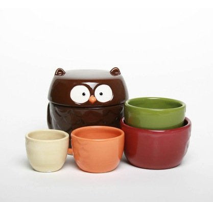 OWL MEASURING CUPS WITH LID SET OF 5