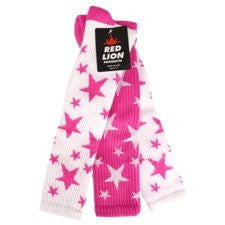 Pair & Spare Stars, Medium, Flo.Pink/White