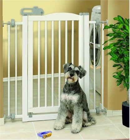 "One-Touch Pet Gate White 28.3"" - 35.8"" x 2"" x 34.6"""