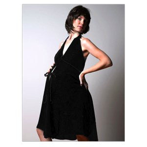 Pretty Pushers Original Disposable Delivery Gown Tie Neck - Black