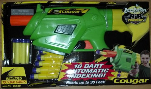 BUZZ BEE TOYS - AIR WARRIORS - COUGAR - FOAM DART BLASTER