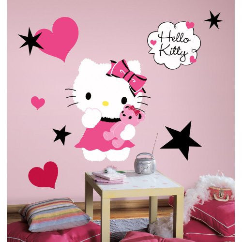 Hello Kitty Couture Peel and Stick Giant Wall Decal