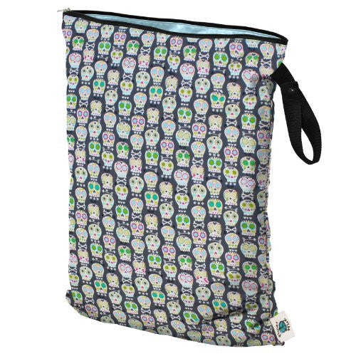 Planet Wise Diaper Wet Bag (Size: Large Color: Carnival Skulls)