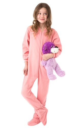 Big Feet Pjs Kids Pink Fleece Footed Pajamas