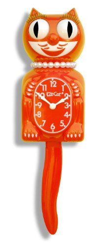 Tangerine Tango Lady Kit-Cat Clock