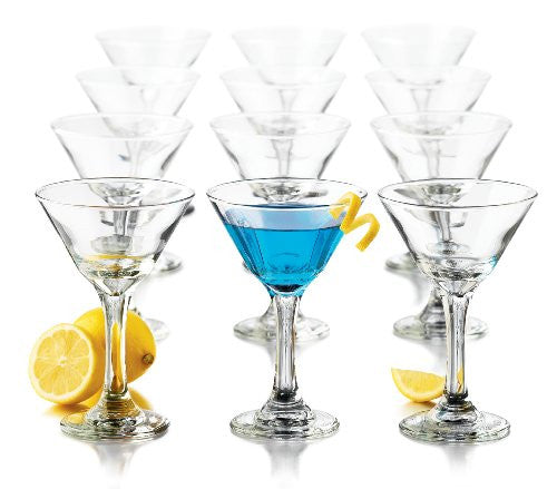 Libbey 7.5-Ounce Martini Party Glass, 12-Piece