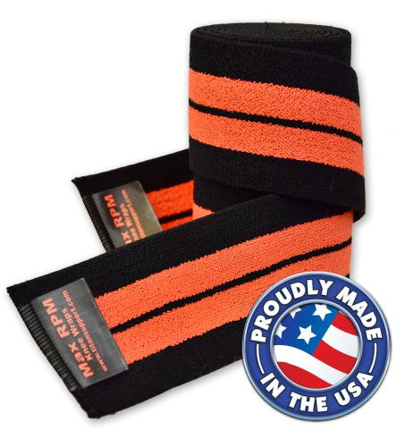 Max-RPM Knee Wraps - Orange/Black
