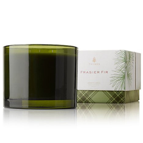 Thymes Frasier Fir Poured Candle 3 Wick NEW 2012 17 oz