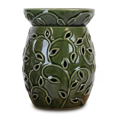TALL IVY CANDLE WARMER/ GREEN