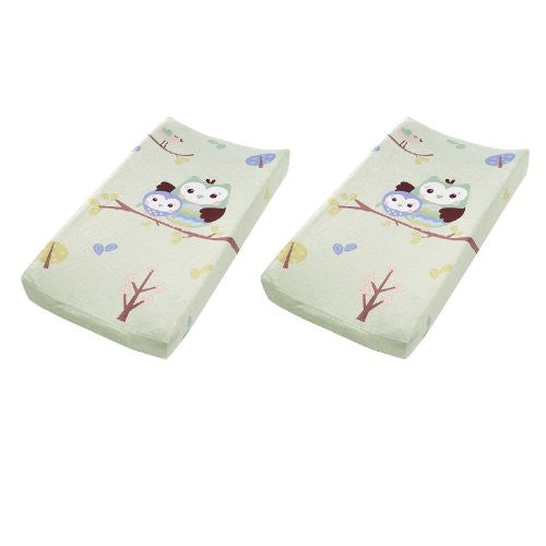 Plush Pals Changing Pad Cover (Owls) - 2 Pack