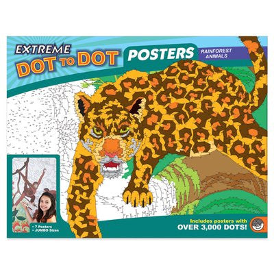 Extreme Dot to Dot Posters: Rainforest Animals