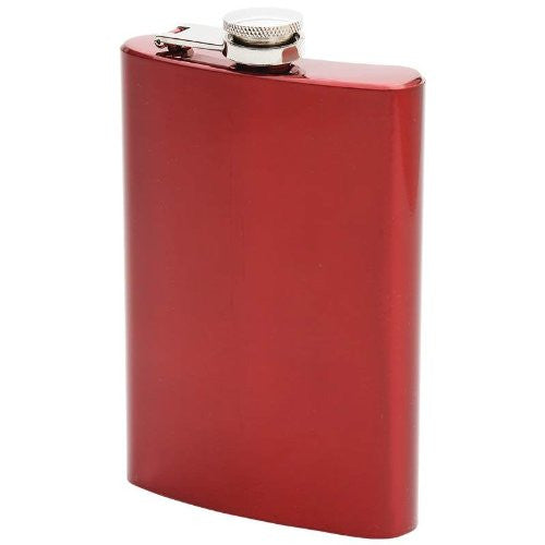 Maxam® 8oz Stainless Steel Flask - Red