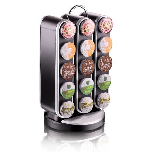 "Mind Reader ""Vortex"" Spinning Coffee Pod Carousel for 30 Keurig K-Cup Coffee Pods, Black"