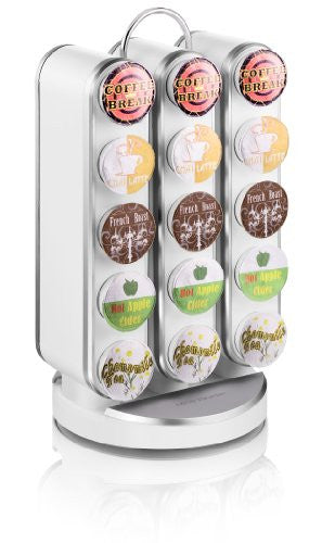 Mind Reader Vortex Spinning Coffee Pod Carousel for 30 Keurig K-Cup Coffee Pods