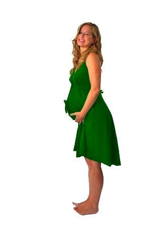 Pretty Pushers Original Disposable Delivery Gown Tie Neck - Green