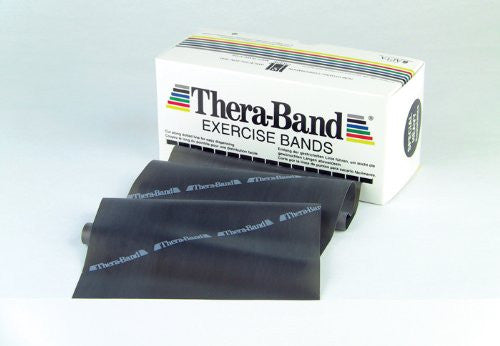 THERA-BAND® Professional Resistance Bands - 6-Yard Dispenser Box - Black / SPECIAL HEAVY